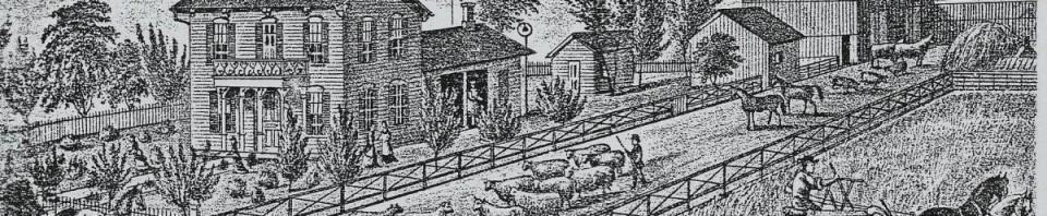 Friedrich Schinnerer farm in 1882. (former Ansel Blossom farm).
