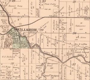Land Friedrich Schinnerer owned in 1886. (Willshire Twp., 1886 Atlas, p. 63.)