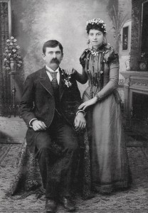 Henry Schinnerer & Louise Schumm, marriage 1 May 1892.