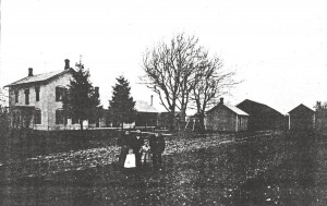 Henry Schinnerer home east of Willshire, 1906.