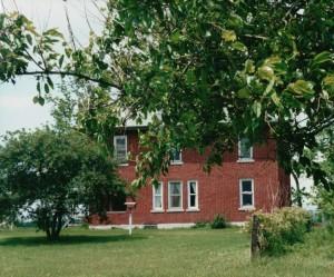 Home built by John Scaer, east of Willshire.(2001 photo by Karen)