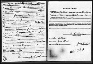 Emanuel H. Schumm WWI Draft Registration Card, 1917.