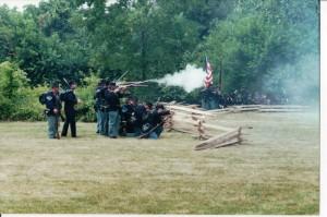 Civil War re-enactment, Celina, Ohio. (2000 photo by Karen)