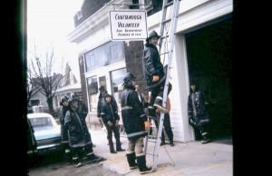 Chatt Volunteer Fire Dept, undated photo, c1970s, courtesy of Jerry Miller.