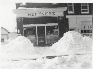 Heffner's Grocery, Chattanooga, Ohio, undated photo.