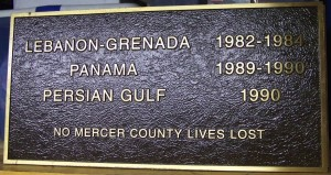 Lebanon-Grenada, Panama, Persian Gulf, Mercer County, Ohio. (2014 photo by Karen)