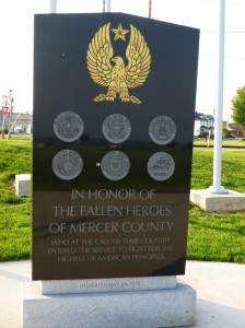 War Memorial, Lake Shore Park, Celina, Mercer County, Ohio. (2014 photo by Karen)