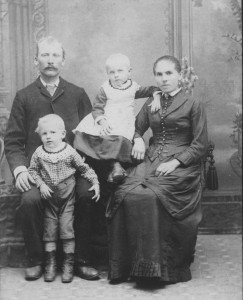 Fred & Mary (Prollock) Ruck with Frank & Katie, c1889.  (Karen's photo collection)