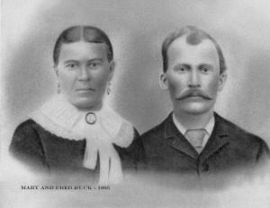 Fred & Mary (Prollock) Ruck, 1905. (photo courtesy of Joyce Layman)