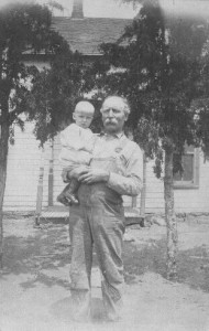 Fred Sr with granddaughter Mildred. (photo courtesy of Joyce Layman)