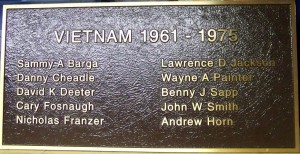 Vietnam Roll of Honor, Mercer County, Ohio. (2014 photo by Karen)