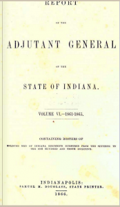 89th Indiana Infantry Roster.