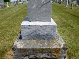 John Bausser, Zion Lutheran Cemetery, Mercer County, Ohio. (2014 photo by Karen)