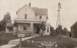 Charles Schumm Residence, 1908 postcard.