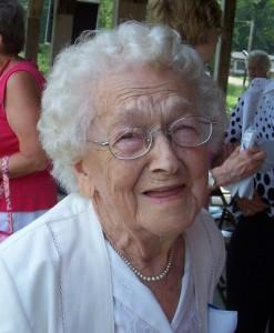 Velma Schumm at 2010 Schumm Reunion. (2010 photo by Karen)