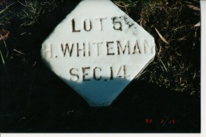 Whiteman Section 14, Reber Hill Cemetery. (2002 photo by Karen)