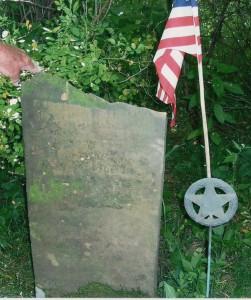 Jonathan Grant tombstone. (2003 photo by Karen)