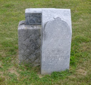 Georg & Lena Kuhm, Zion Lutheran Cemetery, Mercer County, Ohio. (2014 photo by Karen)