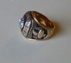 Darrel's Super Bowl IV ring. (2014 photo by Karen)