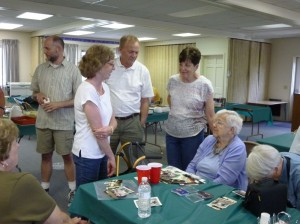 Visiting with the Linn branch at the 2014 Miller Reunion. (2014 photo by Karen)