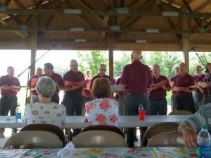 Lutheran Men of Song, 2014 Schumm Reunion. (2014 photo by Karen)