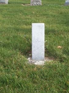 Possible tombstone of Albert Friedrich Michael Berron (1890-1890), Zion Lutheran Cemetery, Chatt. (2011 photo by Karen)