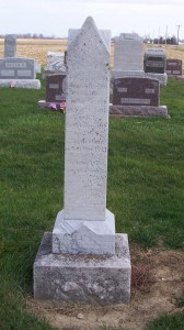 Jacob Kuhm, Zion Lutheran Cemetery, Chattanooga, Mercer County, Ohio. (2011 photo by Karen)