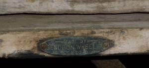 Original name plate, Gendron Wheel Co, Toledo, O.