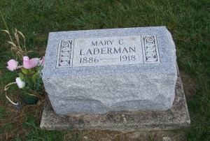 Mary C. Laderman, Zion Lutheran Cemetery, Chattanooga, Mercer County, Ohio. (2011 photo by Karen)