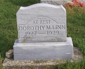Linn, Dorothy Mae, Zion Lutheran Cemetery, Mercer County, Ohio. (2011 photo by Karen)