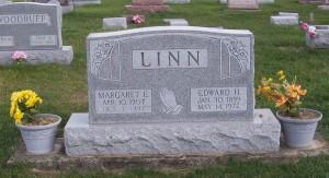 Edward H & Margaret E Linn, Zion Lutheran Cemetery, Mercer County, Ohio. (2011 photo by Karen)