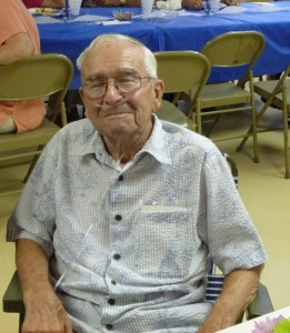 Phil White, 90th Birthday party, 30 August 2014. (2014 photo by Karen)