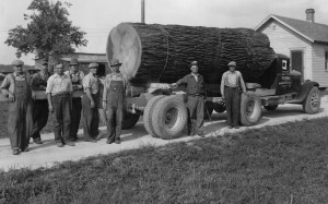 W.P. Robinson Co. truck, Schumm, Ohio. Carl Weinman 3rd from left. Photo courtesy of Tom Reichard.