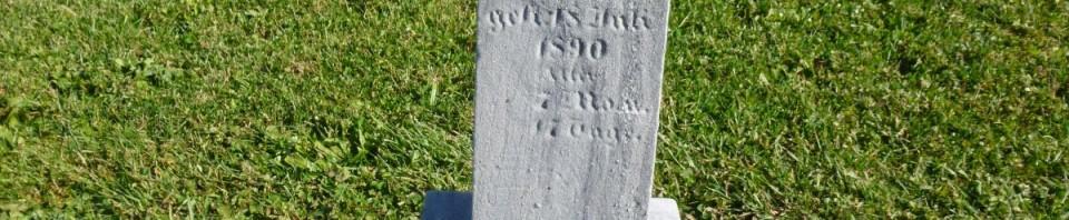 Catherina Emrich, Kessler/Liberty Cemetery, Mercer County, Ohio. (2014 photo by Karen)