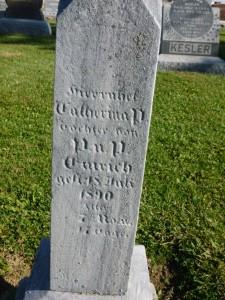 Cemetery, Mercer County, Ohio. (2014 photo by Karen)