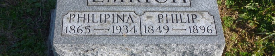 Philip & Philimena Emrich, Kessler Cemetery, Mercer County, Ohio. (2014 photo by Karen)