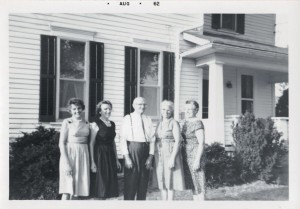 Kate, Velma, Philip, Marie, and Emma Schumm, 1962.