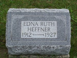 Edna Ruth Heffner, Zion Lutheran Cemetery, Chattanooga, Ohio.