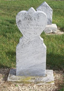 Maria H Heffner, Zion Lutheran Cemetery, Chattanooga, Mercer County, Ohio. (2011 photo by Karen)