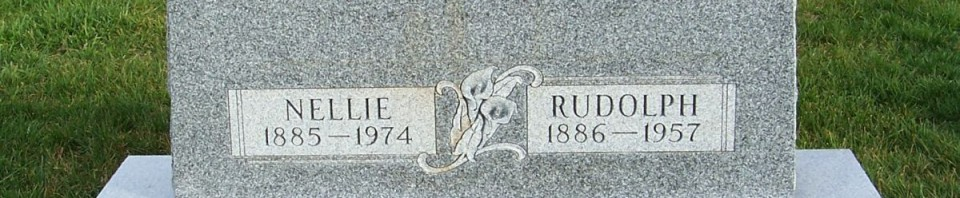 Rudolph & Nellie (Deyo) Heffner, Zion Lutheran Cemetery, Mercer County, Ohio. (2011 photo by Karen)