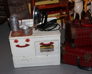 Toy electric stove.