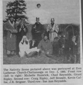 Live Nativity at Zion Chatt, 1995.