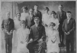 1925 Confirmation Class at Zion Chatt, with Rev. Albrecht.