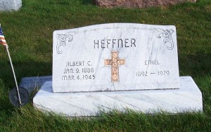 Albert & Ethel Heffner, Zion Lutheran Cemetery, Chattanooga, Mercer County, Ohio. (2011 photo by Karen)
