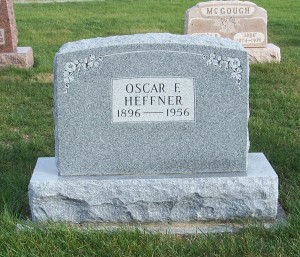 Oscar F. Heffner, Zion Lutheran Cemetery, Chattanooga, Mercer County, Ohio. (2011 photo by Karen)