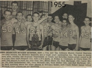 Willshire Bearcats, 1955 state runners-up. (1954-55 season).