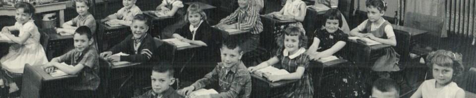 First grade, 1958-59, Willshire Public School, Mrs. Opal Clouse, teacher.