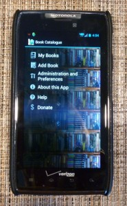 Book Catalogue app on my Android phone.