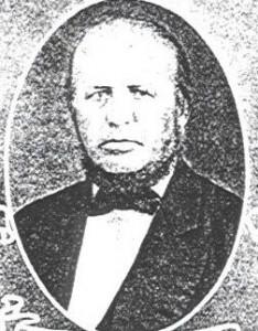 Rev. J.D. Gackenheimer, first minister at Zion Lutheran, Chatt.