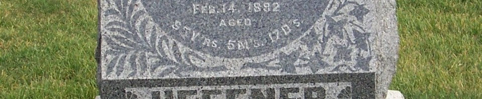 George & Sophia (Martin) Heffner, Zion Lutheran Cemetery, Chattanooga, Mercer County, Ohio. (2011 photo by Karen)